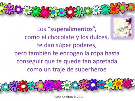 superhéroe súper poderes chocolate dulces